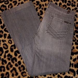 7 For All Mankind Dojo Lattice Gray Jeans 29x32
